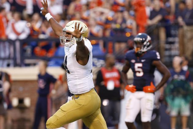 ND QB Deshone Kizer (Photo Courtesy of Geoff Burke/USA TODAY Sports)