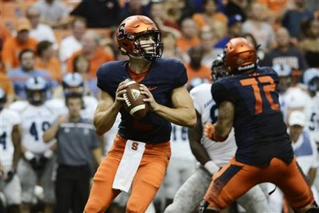 Syracuse QB Eric Dungey (Photo Courtesy of AP Photo/Heather Ainsworth)