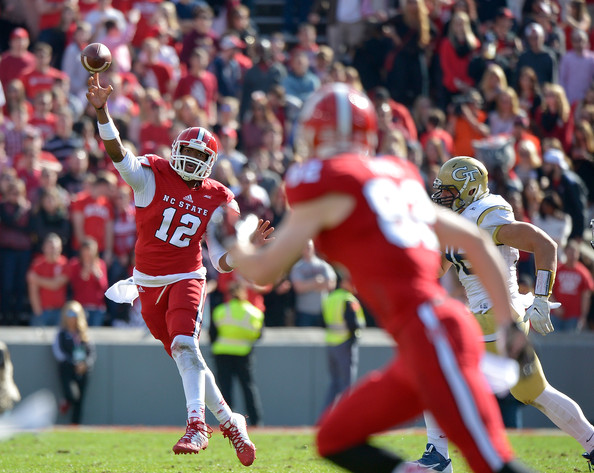 NCSU QB Jacoby Brissett (Photo Courtesy of Grant Halverson/Getty Images North America)
