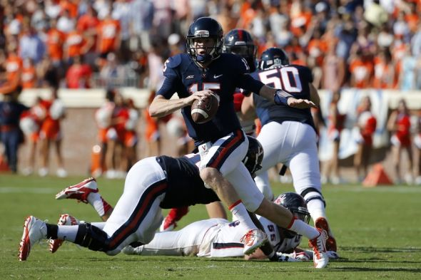 UVA QB Matt Johns (Photo Courtesy of Geoff Burke/USA TODAY Sports)