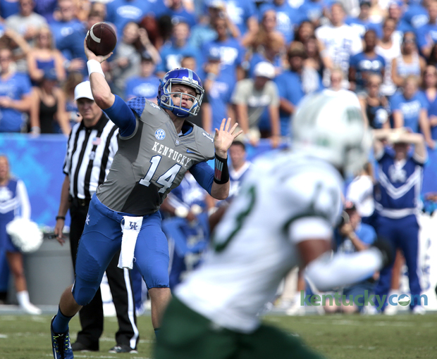 UK QB Patrick Towles (Photo Courtesy of Charles Bertram/Herald Leader)