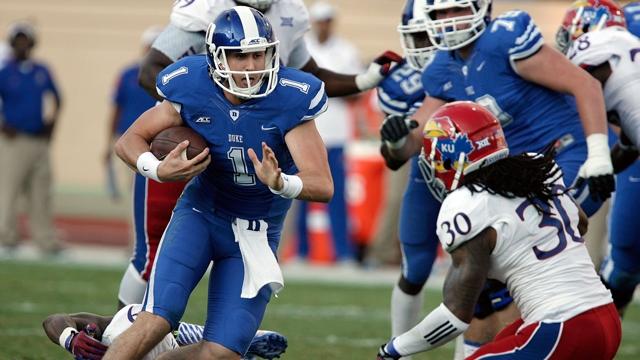 Duke QB Thomas Sirk (Photo Courtesy of Mark Dolejs/USA TODAY Sports)