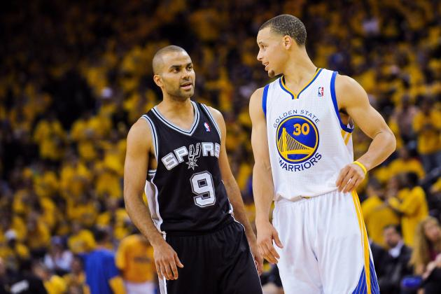 Tony Parker and Steph (Noah Graham:Getty Images)